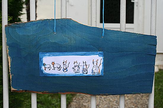 vaches dessin bleu